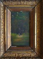 Petite peinture du 19e siècle école de Barbizon 19th century painting