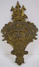 Antique 19c Brass Poseidon Trident Decorative Art Architectural Hardware Element