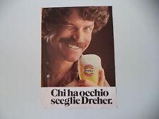 advertising Pubblicità 1982 BIRRA BEER DREHER