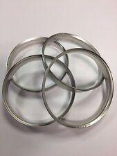 4 x bmw spigot anneaux 74.1 -72.6 aluminium metal spigot ring entretoises hub centric