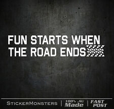 FUN STARTS WHERE THE ROAD ENDS 274mmH OFF ROAD RALLY 4x4 V8 Hilux Patrol Mud