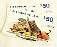 $100 Restaurant.com Gift Card NATIONWIDE No Expiration