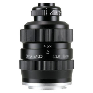 Zhongyi Mitakon 20mm f/2 4.5X Super Macro Lens for Mirrorless Sony Fuji GH4