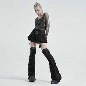 Women's Punk Shabby Leg Sleeve Hole Elastic Leg Warmers Knee Sleeve Accessories