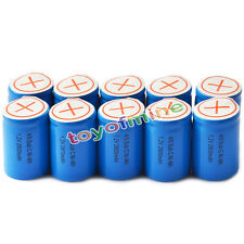 10pcs 4/5 SubC Sub C 2800mAh 1.2V Ni-Mh Rechargeable Battery Blue Cell with Tab