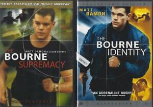 DVD: LOT OF 3 BOURNE IDENTITY-ULTIMATUM-SUPREMACY  MATT DAMON