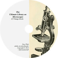 42 Books on Microscopes, Ultimate Vintage Library on DVD, History, Catalogs