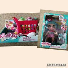 Kindi Kids jessicake Muñeca y Kindi Diversión carrito de compras con Shopkins Juguete Nuevo