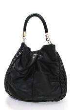 Yves Saint Laurent Roady Hobo Bag Purse Black Leather Large