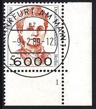 32) Berlin 5 Pf. Frauen 833 FN 1 Formnummer Ecke 4 EST FFM mit Gummi RAR!