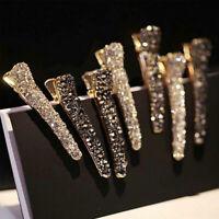 Korean Women Crystal Rhinestone Pearl Hair Clip Princess Hairpin Barrette Clips
