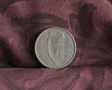 Penny Ireland 1950 Bronze World Coin Irish Harp Hen with Chicks KM11 Eire pence