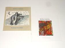 Markus Lüpertz - 2 Kataloge - Hamburger Kunsthalle 1977 + Leinwände Zeichnungen