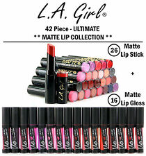 New! L.A. GIRL 42 Piece Matte Lipstick & Gloss Wholesale Lot! Full Collection