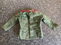 VINTAGE PALITOY/HASBRO ACTION MAN GREEN GERMAN STORMTROOPER JACKET VGC FOR AGE