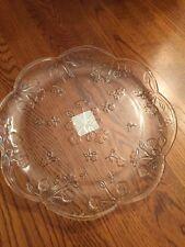 "Anchor Hocking SAVANNAH CLEAR 10"" Dinner Plate Made In USA"