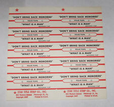 Four Tops Full Sheet 10 Jukebox Title Strips Don't Bring Back Memories What Is A