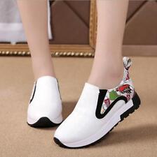 NEW Womens Hidden Wedge Heels High Top Sneakers Athletic Creepers Slip on Shoes