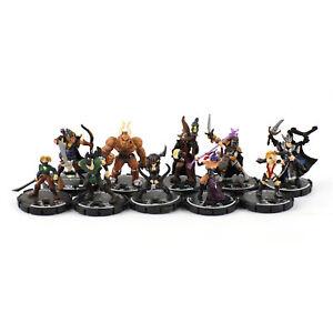 Mage Knight Unique Lot x10 - D&D Miniature DND Mini WizKids Dungeon Heroes 3 THG