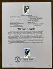 WINTER SPORTS DOWNHILL SKIING  #3180 1998 USPS FD Souvenir Page