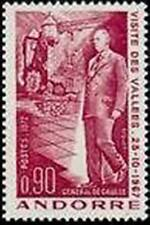 "ANDORRE FRANCAIS STAMP TIMBRE YVERT N° 225 "" GENERAL DE GAULLE 90c"" NEUF xx LUXE"