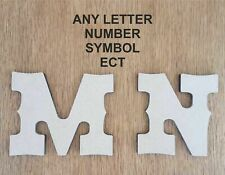 6 mm Thick MDF Wooden Letters & Numbers Cowboy western font 10 cm to Large 60 cm