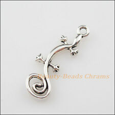 10Pcs Tibetan Silver Tone Animal Lizard Charms Pendants 10.5x29mm