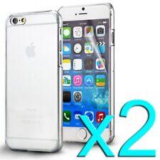 2X FUNDA IPHONE 6 4.7 CARCASA RIGIDA TRANSPARENTE DURA ULTRA FINA ULTRASLIM SLIM