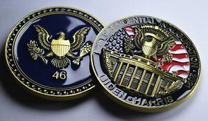 JOE BIDEN Commemorative/Challenge Coin. 24ct Gold, Enamel 45mm 40g USA/PRESIDENT