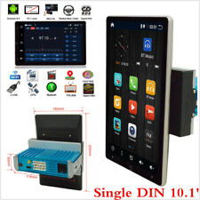 10.1in Single DIN Rotatable Touch Screen Car Stereo Radio 64GB Wifi w/GPS Navi
