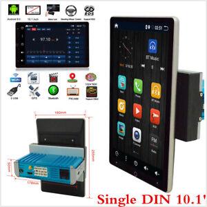 10.1in Single DIN Rotatable Touch Screen Car Stereo Radio 64GB Wifi w/GPS Navi