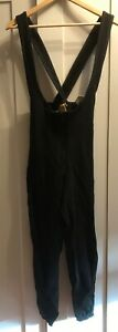 HOT CHILLYS Women's Base Layer Overalls Black Zip Front - Size M Medium