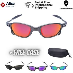 X-Metal Juliet Cyclops Sunglasses Ruby Polarized Lenses TITANIUM Cycling Glasses