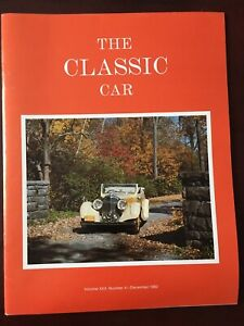 The Classic Car Magazine (Volume XXX, Number 4 - December 1982)