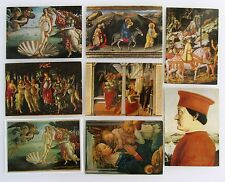 8x FLORENZ Firenze Italien Galleria Uffizi Künstlerkarten frankiert ab/nach 1964