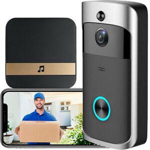 Wireless WiFi Smart Video Doorbell Intercom Security Camera Door Bell Ring Chime