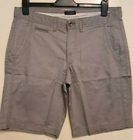 """MEN`S NEW MCNEAL CASUAL COTTON CHINO SHORTS 34"""" WAIST GREY"""