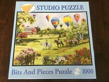 """Bits & Pieces Studio Puzzle 1000pc """"BALLOONS OVER THE MEADOW"""" 20x27 13+ Complete"""