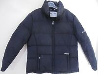Womens GUESS Puffer Jacket Black Quilted Down Filled Size Large