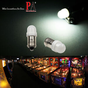 PA 50x #1893 #44 #47 #1847 BA9S 2 SMD LED Pinball Machine Light Bulb White 6.3V