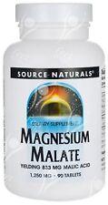 Source Naturals,Magnésium Malate avec Malique Acide x 90 Comprimés FIBROMYALGIE
