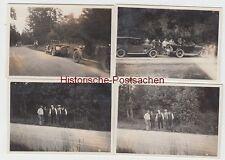 (F9004) 4x Orig. Foto Ausfahrt mit dem Automobil, 1930er