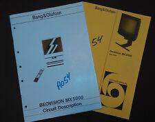 Bang & Olufsen beovision mx 5500 type 3250 Service Manual original repair b&o tv
