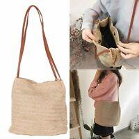 Ladies red Straw Bag  handbag Rattan Beach Bags Wicker Straw Bag Handbag New