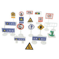 Street Road Sign Pretend Play Game Traffic Car & Vehicle Playset Toy Educational