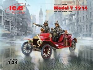 ICM 24017 Fire Truck with Crew Model T 1914 1/24