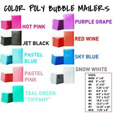 Color Poly Bubble Mailers Padded Envelope Protective Packaging Pouch Bags