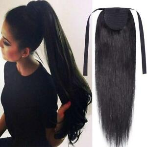 100% Real Human Hair Extension Clip In Ponytail Hair Extensions Best Remy Hair