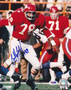 Bobby Bell SIGNED 8x10 Photo + HOF 89 Kansas City Chiefs PSA/DNA AUTOGRAPHED