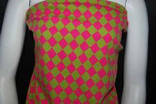 "Cotton Jersey Lycra Diamonds  Print  Knit Fabric Very Soft 10 oz 3/4"" Diamonds"